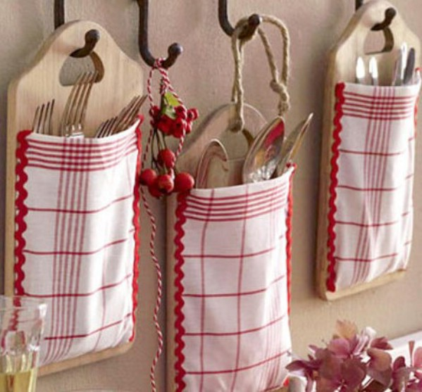 Cutting Board Silverware Bag