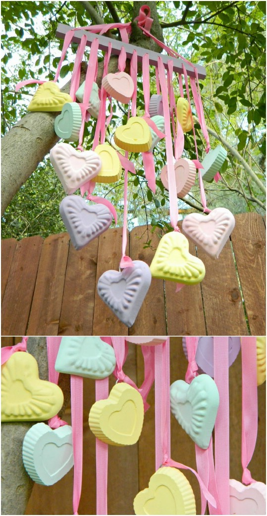 DIY Candy Heart Wind Chimes