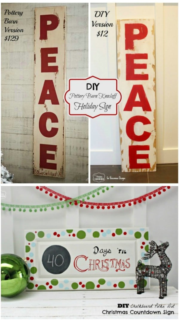 Easy DIY Holiday Signs