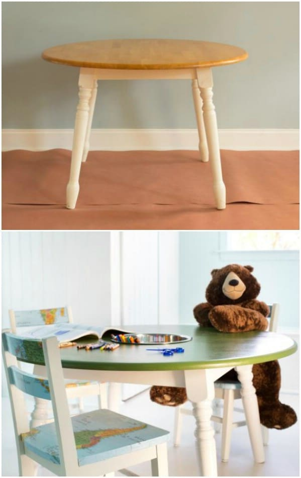 Dining Room Table Repurpose – Kids Activity Table