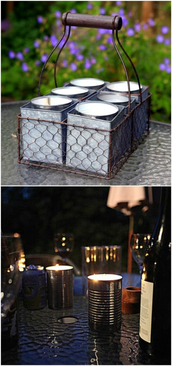 Easy DIY Garden Citronella Candles