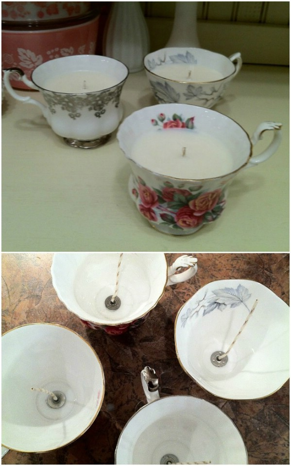 Vintage Teacup Homemade Candle