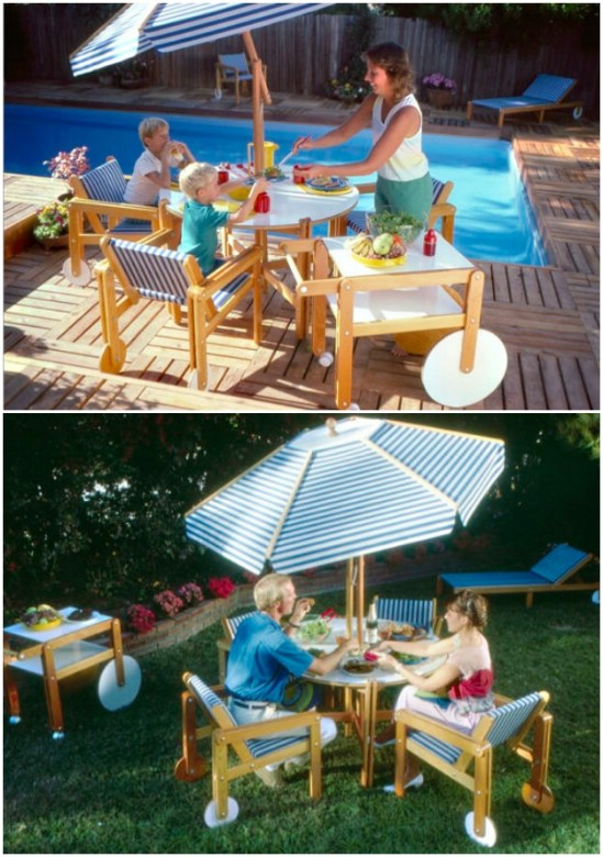 Easy DIY Deck Furniture