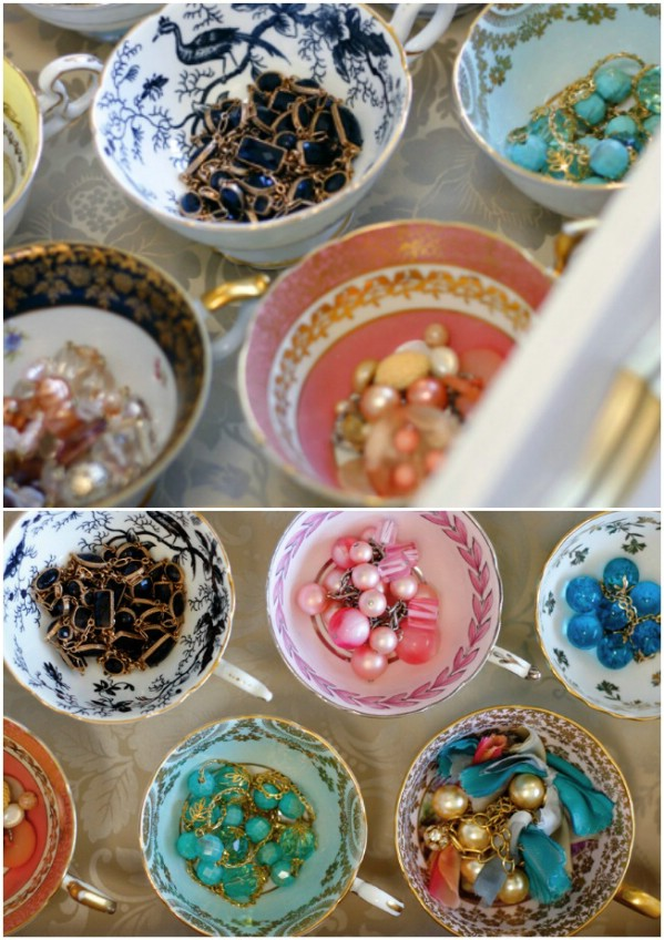Upcycled Teacup Jewelry Organizer