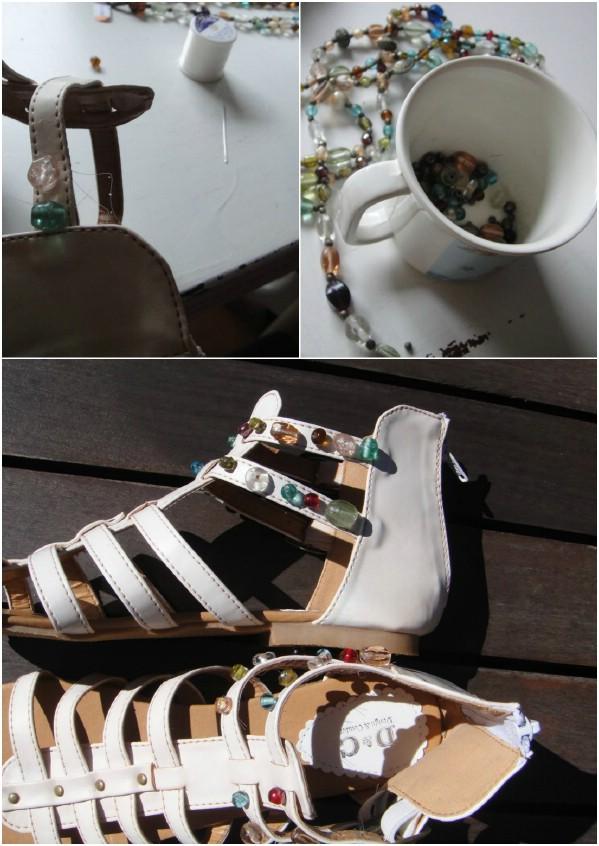 DIY Beaded Sandals