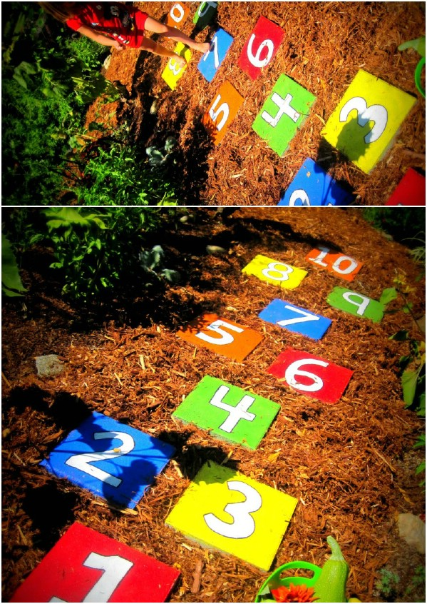 Easy DIY Hopscotch Stepping Stones