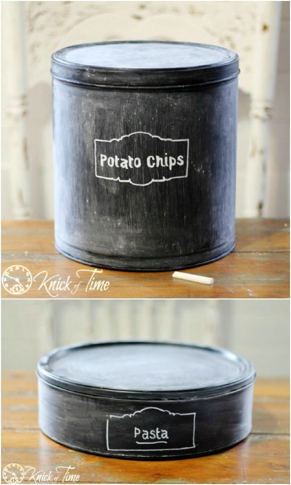 Easy Chalkboard Kitchen Canisters