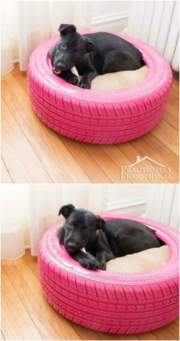 DIY Recycled Tire Bed