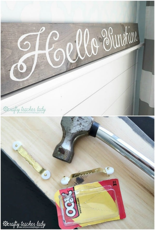 DIY Stenciled Welcome Sign