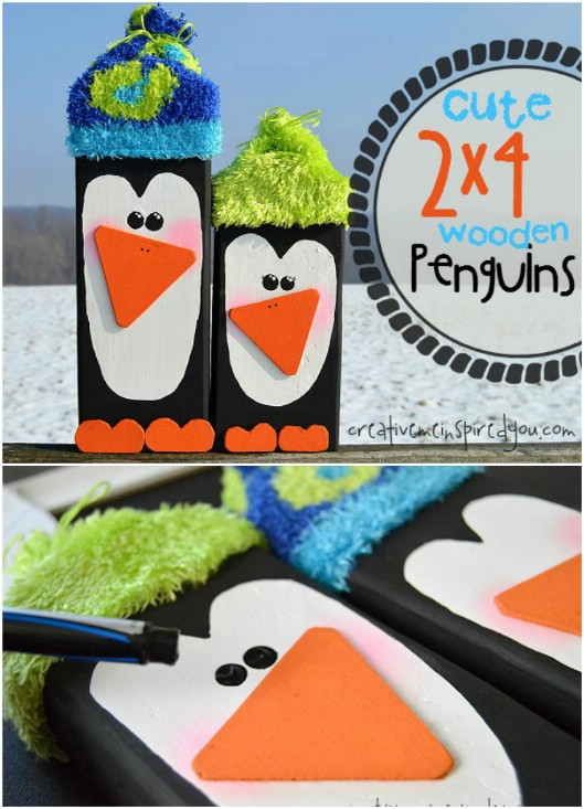 2X4 Block Penguins