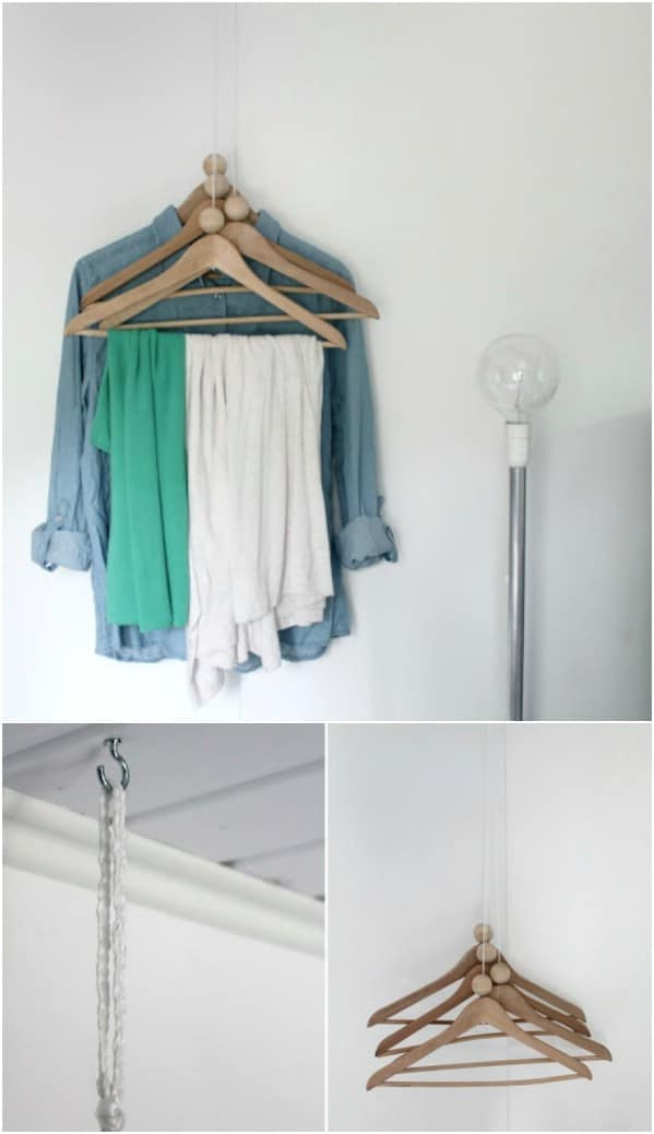 Hang Your Hangers From The Ceiling