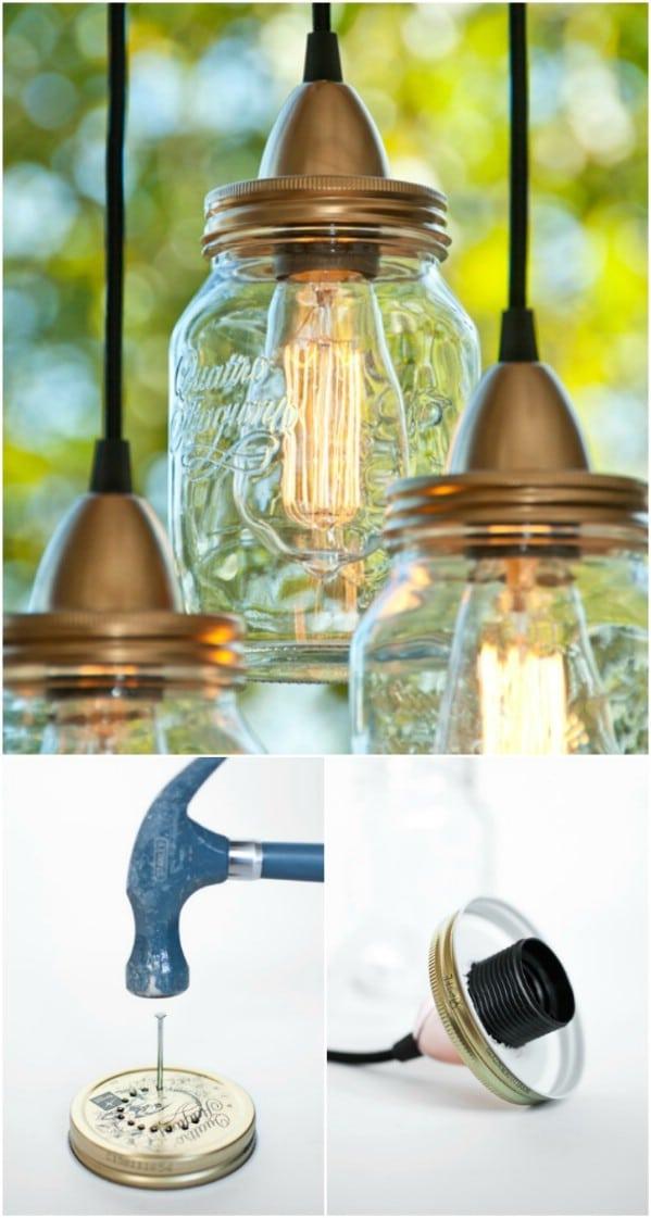 Vintage Mason Jar Lamp