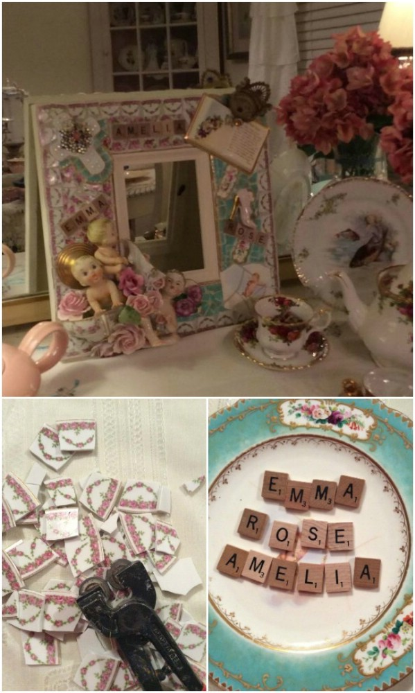 DIY Mosaic Memory Photo Frames