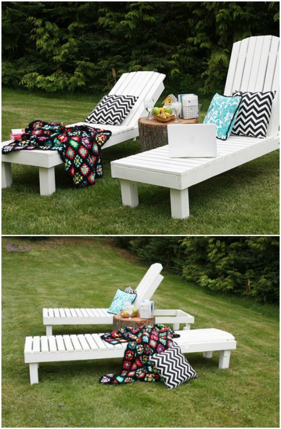 Simple Reclining Outdoor Lounge