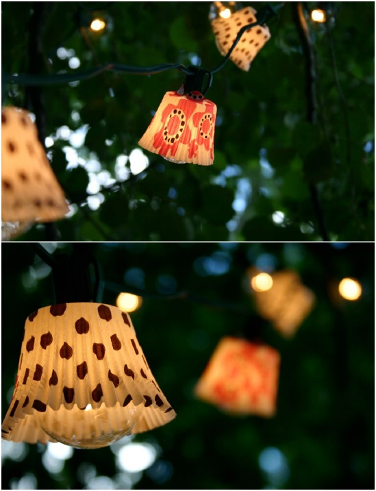 DIY Outdoor Cupcake Lights