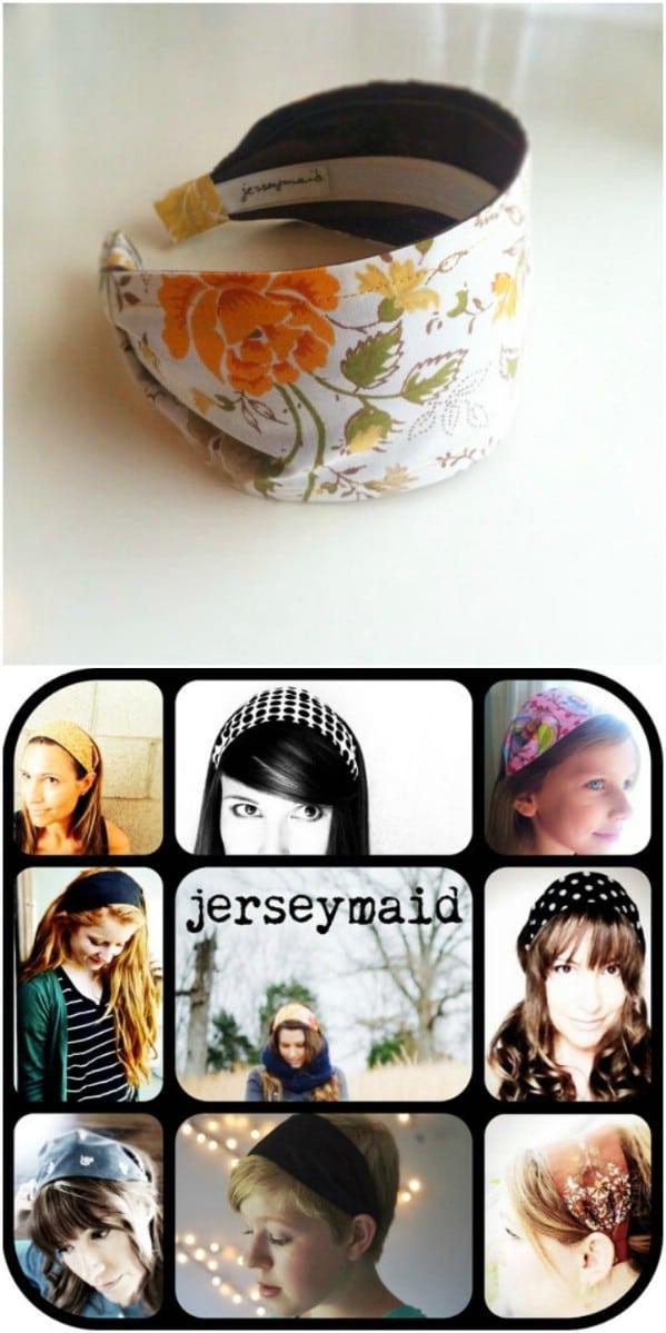 Repurposed Sheet Chunky Headband