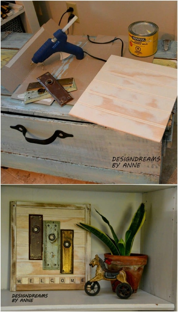 Anthropologie Inspired DIY Welcome Sign