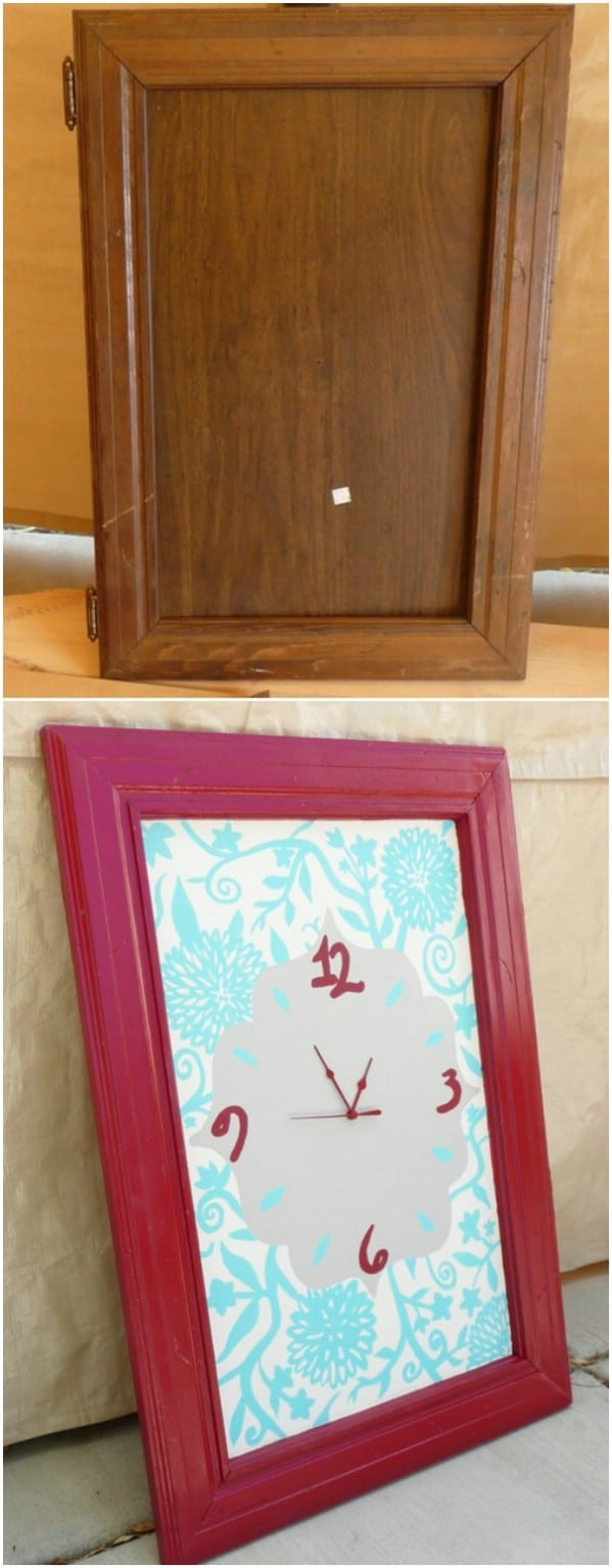 Beautiful DIY Cabinet Door Clock
