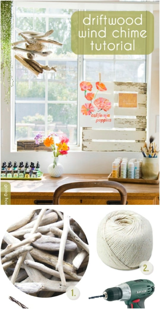 Beautiful DIY Driftwood Wind Chime