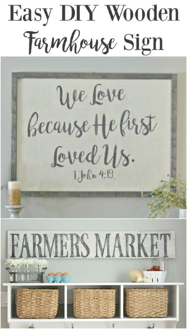 DIY Rustic Farmhouse Sign