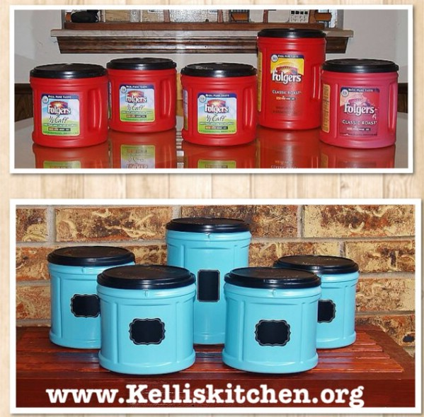 DIY Upcycled Kitchen Canisters