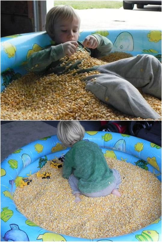 Corn Filled Sensory Fun Pool