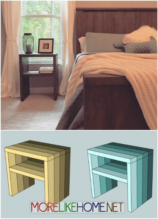 Super Easy 2X4 Nightstand