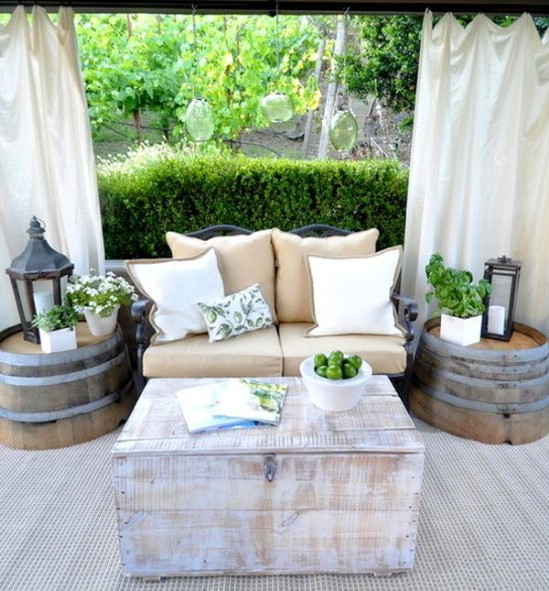 Wine Barrel Side Tables