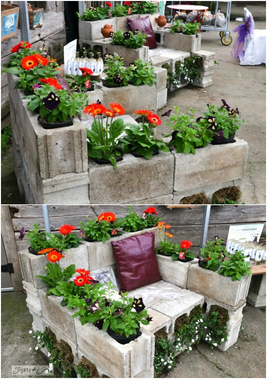 DIY Concrete Chair/Planter