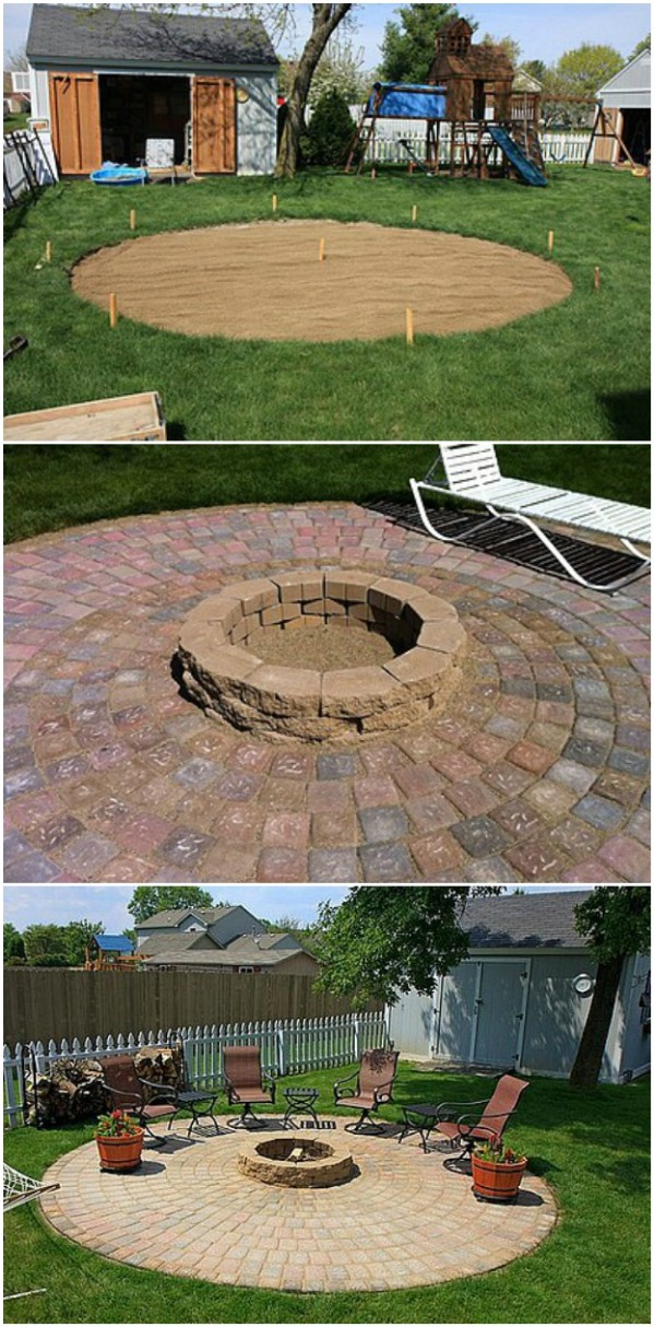 DIY Patio With Included Fire Pit