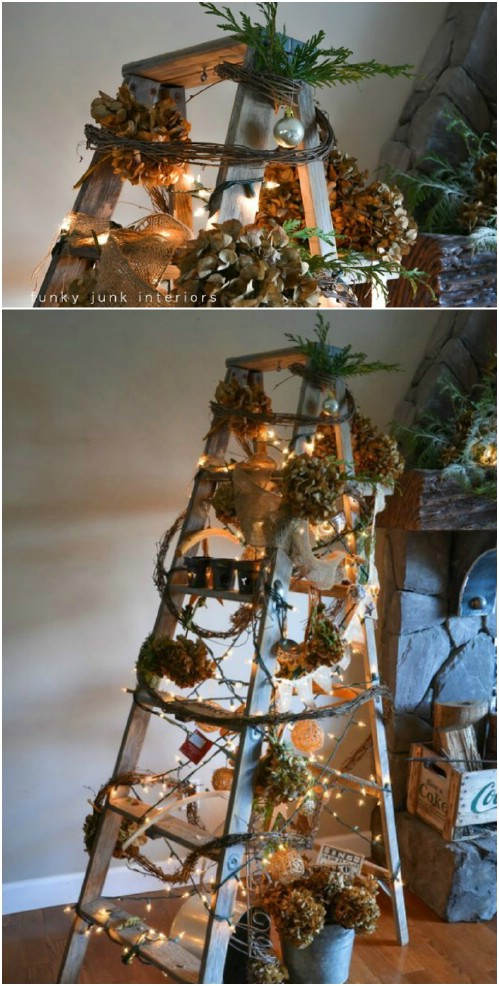 DIY Ladder Christmas Tree