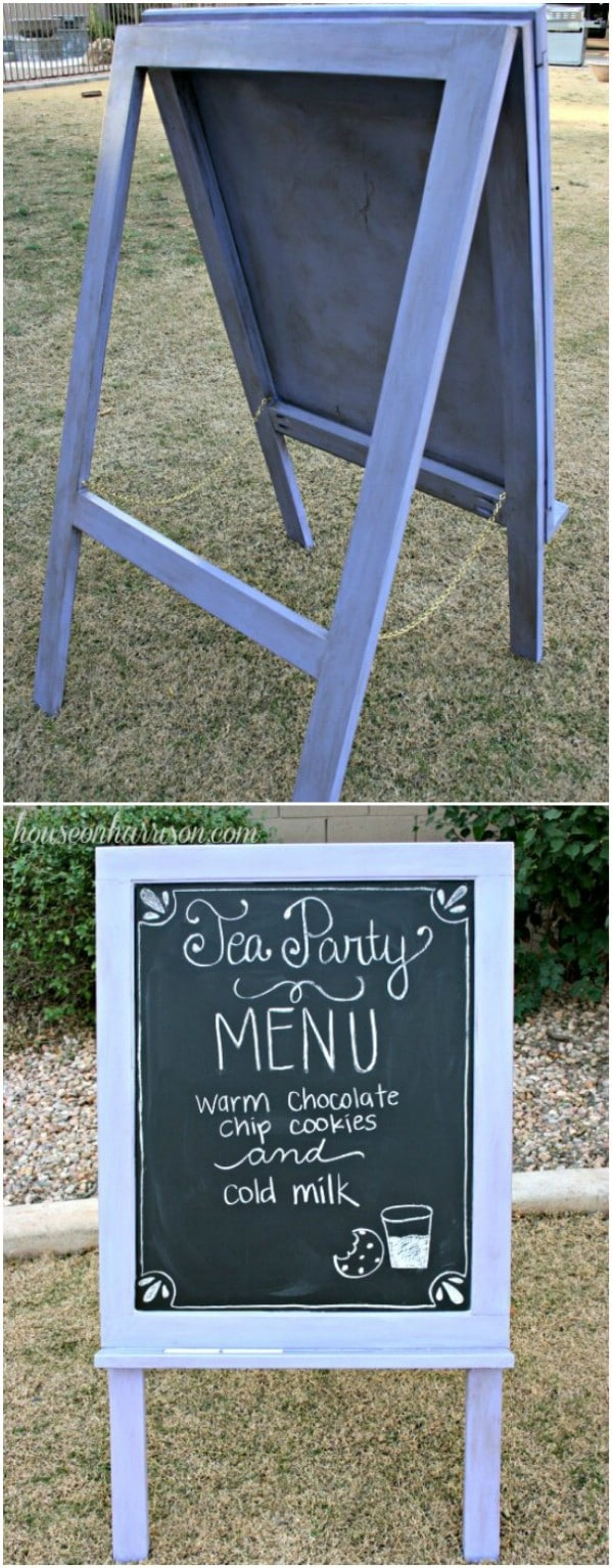 Repurposed Cabinet Door Easel