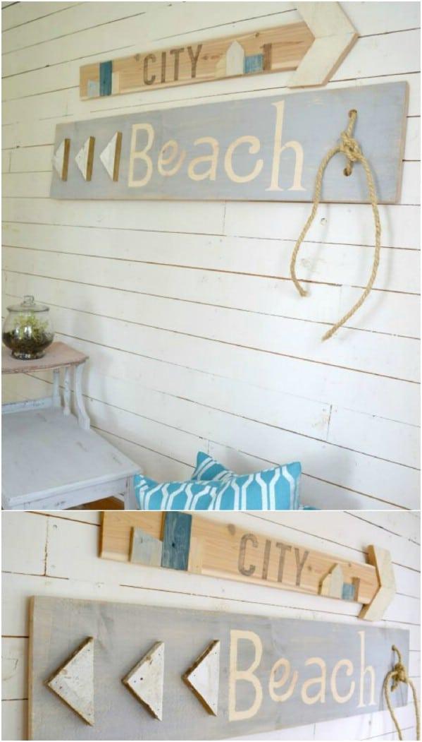Scrap Wood Beach Signs
