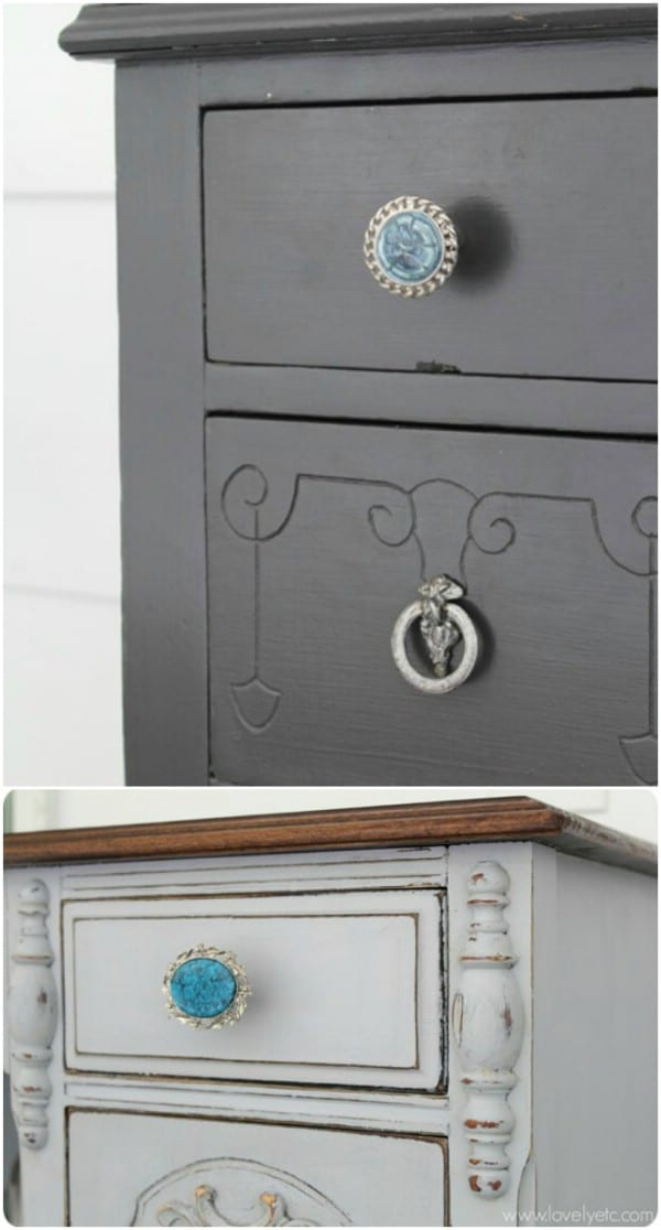 DIY Jeweled Drawer Pulls
