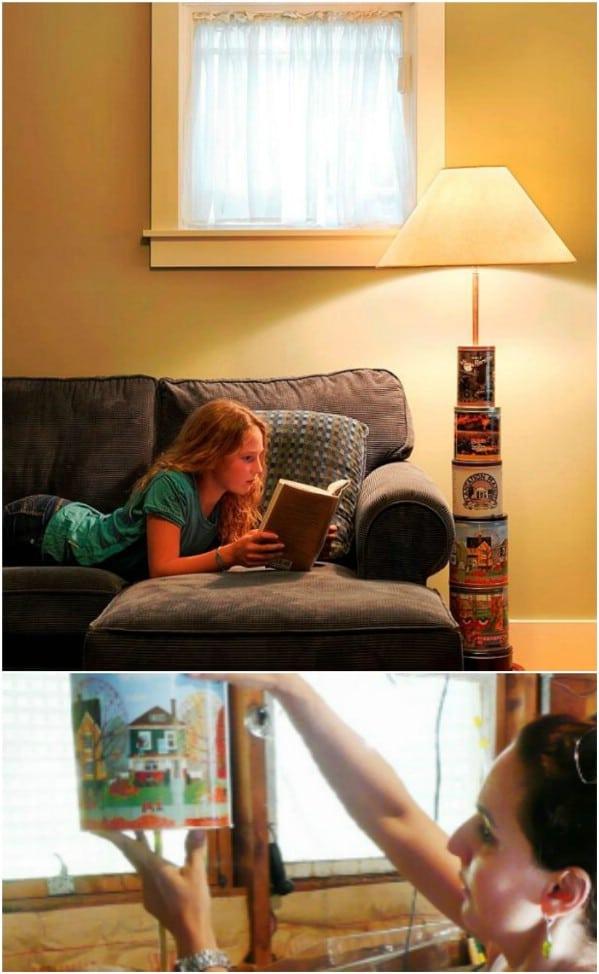 DIY Totem Styled Floor Lamp