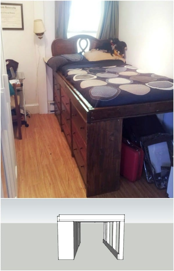 Move The Dresser Under The Bed