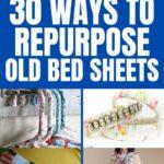 Repurpose bed sheet collage