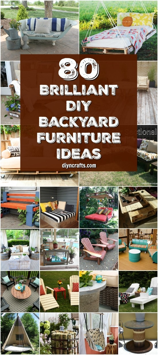 80 Brilliant DIY Backyard Furniture Ideas That Will Give Your Outdoors Character {With Tutorial Links}