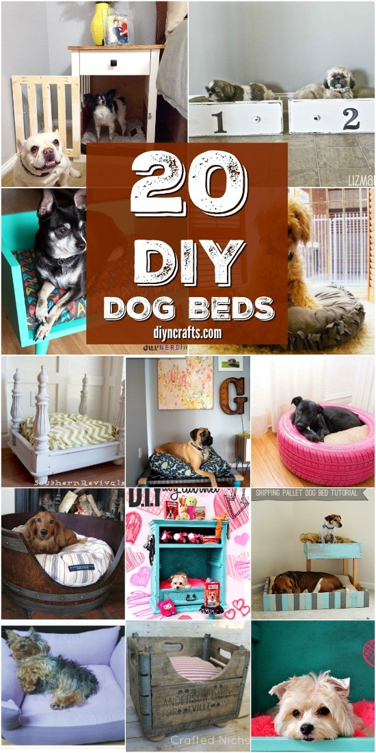 20 Easy Diy Dog Beds And Crates That