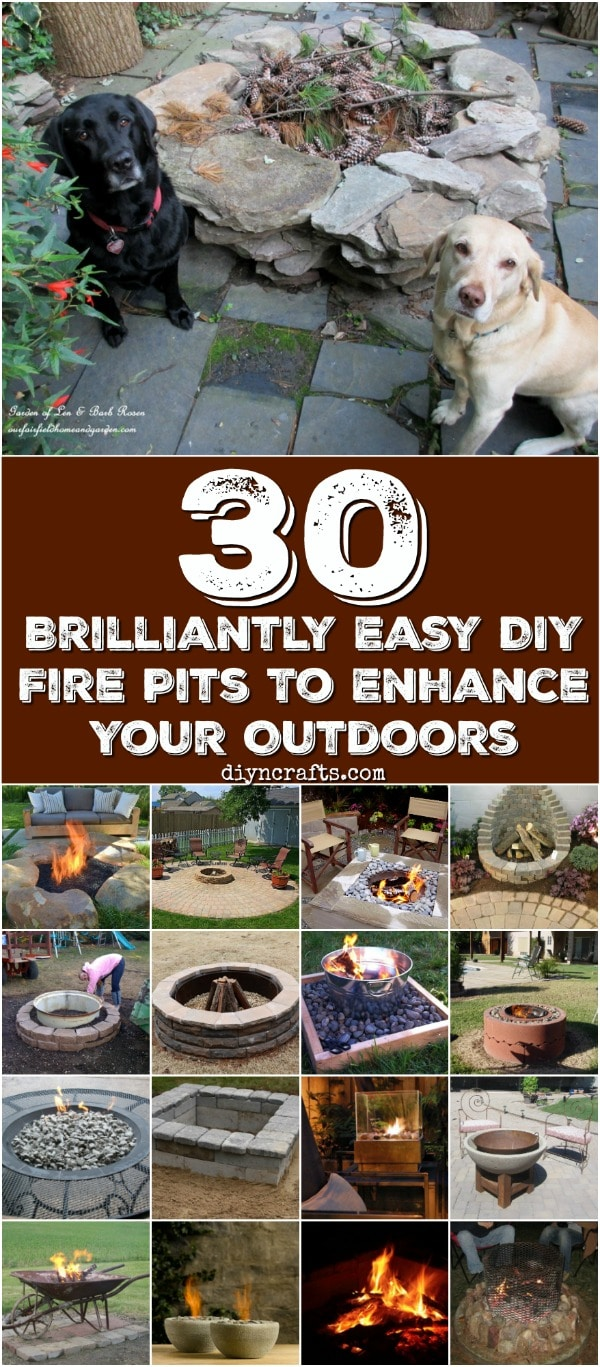30 Brilliantly Easy DIY Fire Pits To Enhance Your Outdoors - Really easy and functional projects! Collection curated by diyncrafts.com team <3