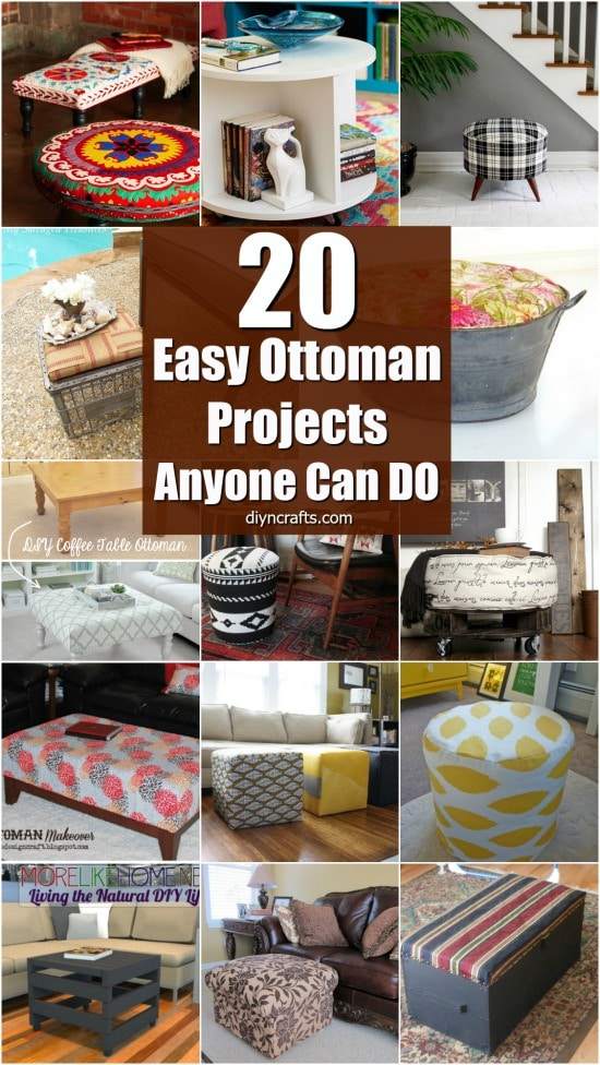 20 Fabulously Decorative Ottomans You Can Easily Make Yourself {With Tutorial Links}
