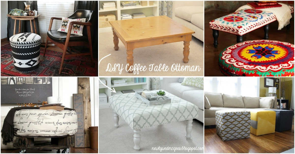 20 Fabulously Decorative Ottomans You Can Easily Make