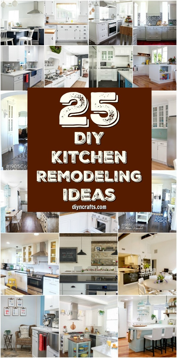 25 Inspiring DIY Kitchen Remodeling Ideas That Will Frugally Transform Your Kitchen { Curated and Created by DIYnCrafts.com }