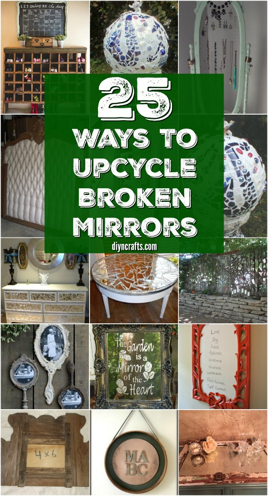 20 Brilliantly Crafty DIY Ideas To Upcycle Broken Mirrors {Collection Curated by DIYnCrafts Team}