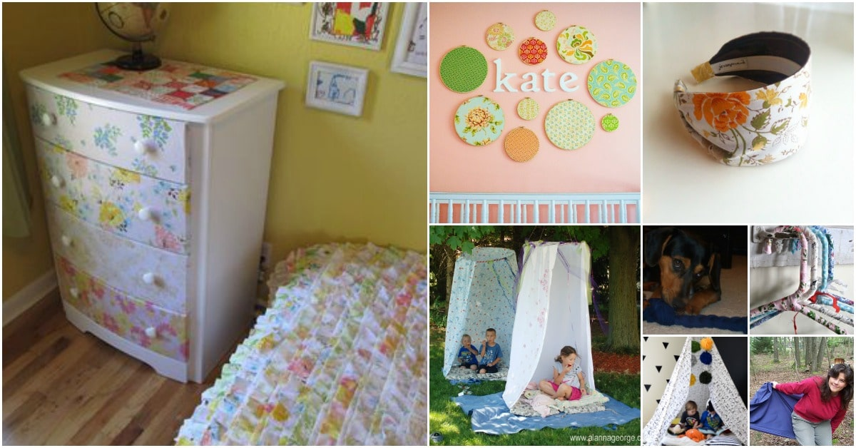 30 Creative And Crafty Ways To Repurpose Old Bed Sheets   DIY & Crafts