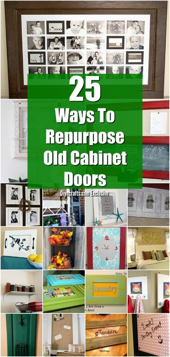 25 DIY Projects Made From Old Cabinet Doors – It's Time To Repurpose! - Brilliant upcycling projects from old cabinet doors! Collection curated by diyncrafts.com team! <3