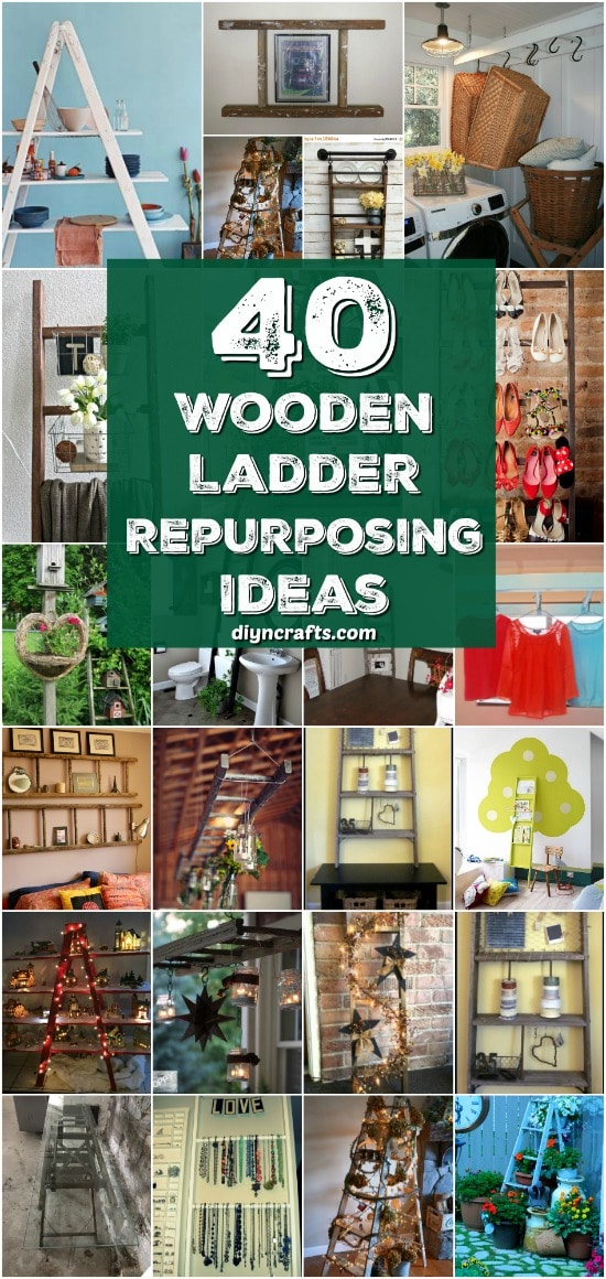40 Wooden Ladder Repurposing Ideas That Add Farmhouse Charm To Your Home {With Tutorial Links}