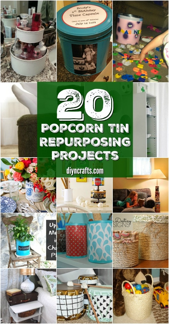 20 Crazy Creative Popcorn Tin Repurposing Projects {Curated and Collected by DIYnCrafts Team}