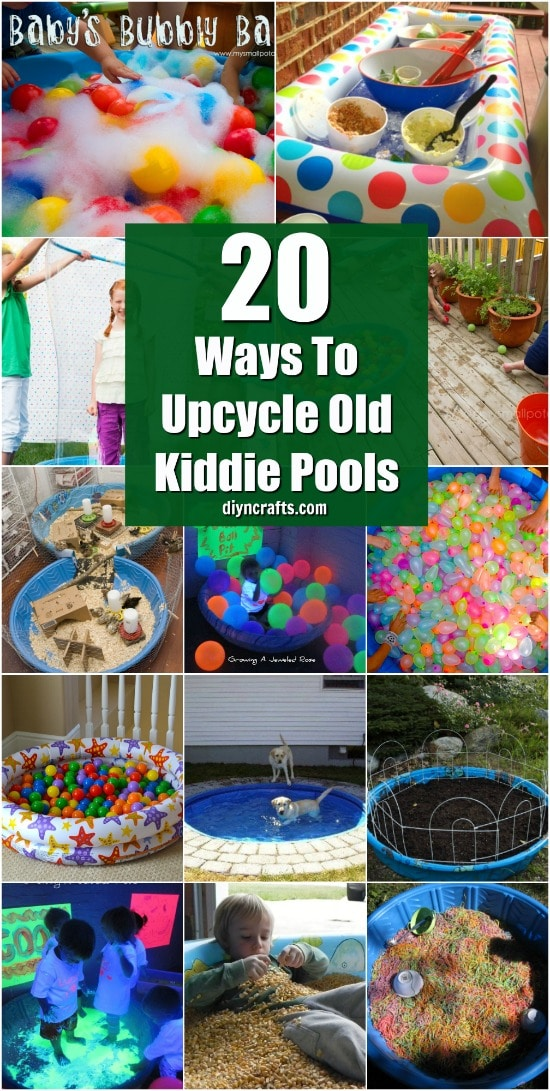 20 Brilliantly Creative Ways To Repurpose Those Old Kiddie Pools {With Tutorial Links}