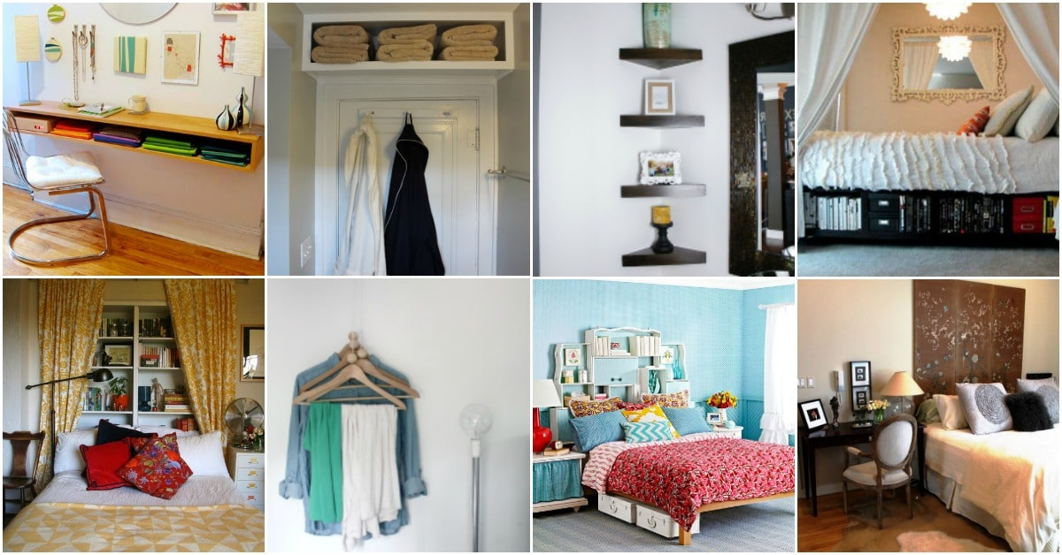 20 Space Saving Ideas And Organizing Projects To Maximize Your Small Bedroom Diy Crafts